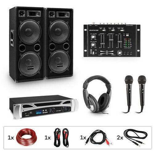 Electronic-star estar block-party ii zestaw dj wzmacniacz pa mikser dj 2xsubwoofer słuchawki