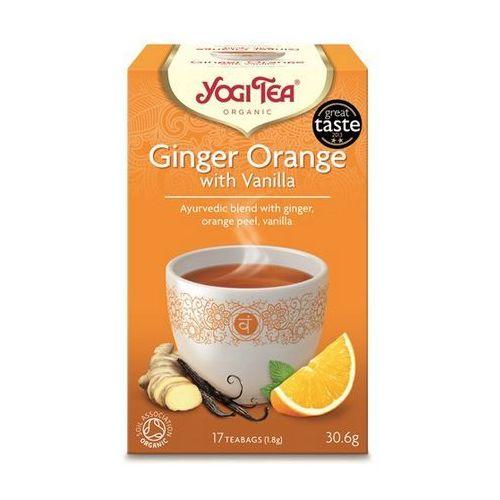 Herbata Imbirowo Pomarańczowa z Wanilią BIO (Yogi Tea) 17 saszetek po 1,8g