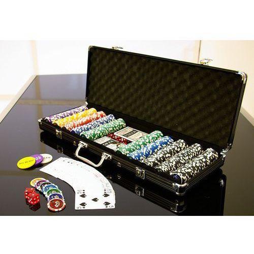 Garthen Zestaw do pokera ocean black edition 500 szt żetonów (4025327324079)