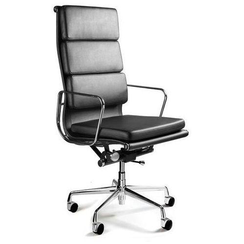 Fotel biurowy WYE czarny skóra naturalna, 5794