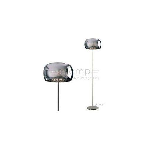 Dekoracyjna LAMPA podłogowa CRYSTAL F0076-04A-F4FZ Zumaline szklana OPRAWA stojąca kryształki sople łezki chrom