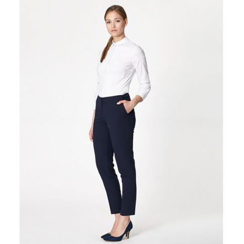 Spodnie damskie model slavia 17221 navy, Click fashion