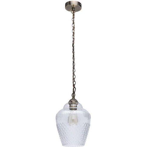 Elegancka, pojedyncza lampa wisząca z ozdobnym szklanym kloszem MW-LIGHT (481012001)