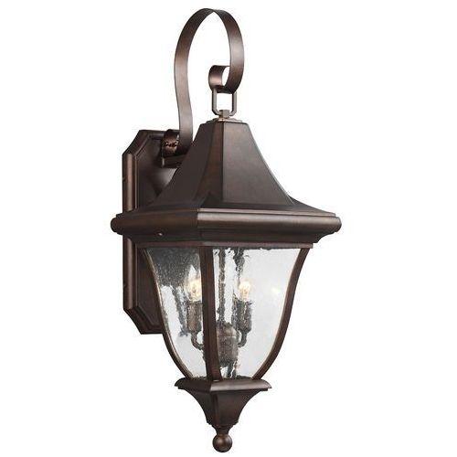 Ogrodowa LAMPA ścienna OAKMONT FE/OAKMONT2/M Elstead FEISS elewacyjna OPRAWA zewnętrzna kinkiet outdoor IP44 brązowa patyna (5024005325116)