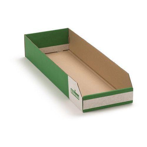 K bins limited Skrzynki regałowe z kartonu, składane, opak. 50 szt., dł. x szer. x wys. 600x200