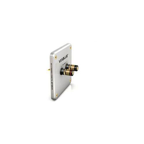 Viablue T6s Bi-Terminal R-150 Silver with binding post - terminal głośnikowy z gniazdami - Silver \ Bi-wire (4048834300862)