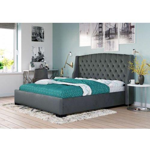 Łóżko tapicerowane do sypialni 160x200 1177 popiel marki Meblemwm