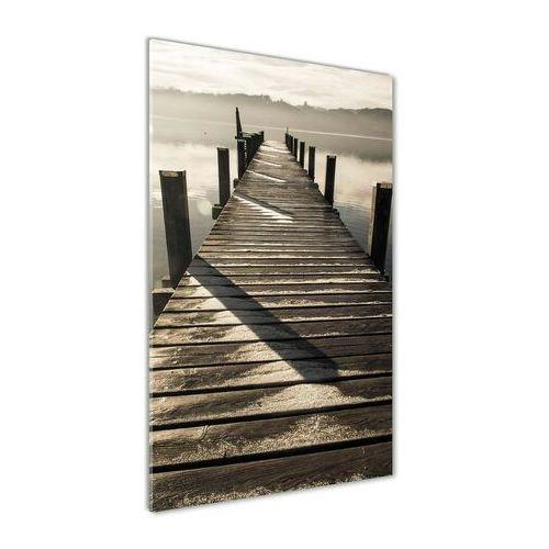 Foto obraz akryl do salonu drewniane molo marki Wallmuralia.pl