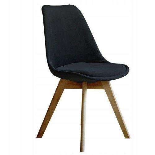 Nowoczesne krzesło art132c czarny welur marki Meblemwm