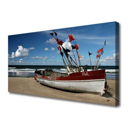 Obraz na płótnie morze plaża łódka krajobraz marki Tulup.pl