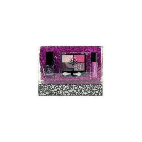 Makeup trading Set makeup schmink fuchsia (w) 4xcienie + lakier do paznokci + błszczyk + kosmetyczka 21,8g