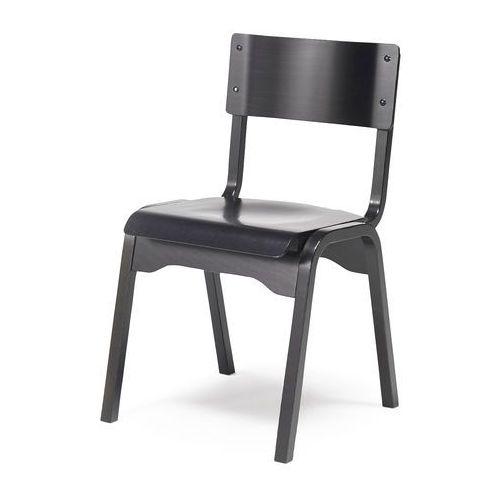 Aj Krzesło drewniane charlotte czarny