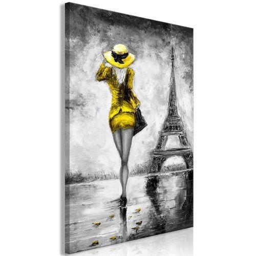 Obraz - Paryska kobieta (1-częściowy) pionowy żółty