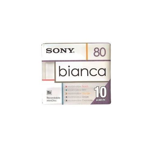 Sony Bianca – Color-Edition MiniDisc (10 szt.), 4901780891139