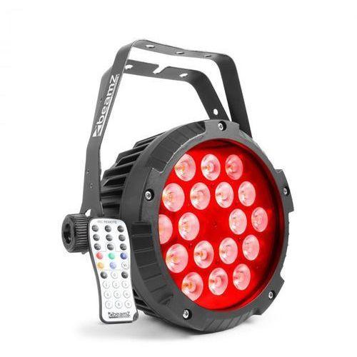 Bwa418 reflektor projektor led par 18x12w diody led 4-w-1 rgbw ip65 czarny marki Beamz