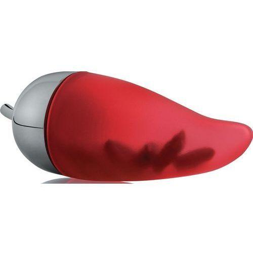 Alessi  piccantino pojemnik na chili ze stali nierdzewnej i czerwonego silkonu kauczukowego (jht02) darmowy odbiór w 20 miastach! (8003299970018)