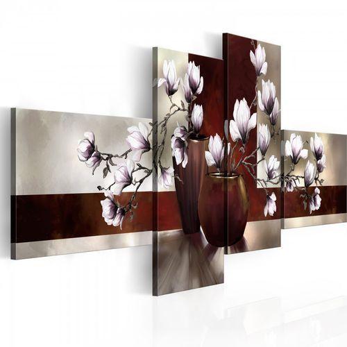 Obraz - Magnolie w wazonie (100x45 cm)