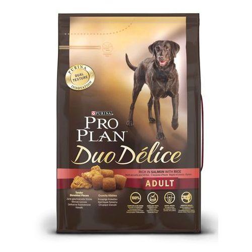 Pro plan Purina duo délice + kurczak - zabawka gratis! - purina pro plan duo délice, łosoś z ryżem, 10 kg (7613034001023)