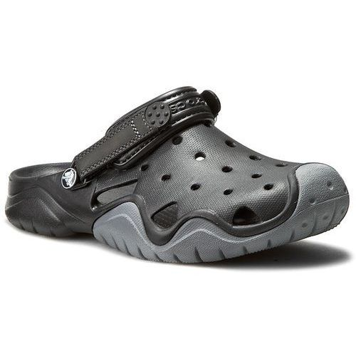 753cfc6364017 Klapki CROCS - Swiftwater Clog M 202251 Black/Charcoal, kolor czarny