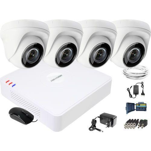 Zestaw do monitoringu HD Hikvision Rejestrator cyfrowy 4 kamery, ZM10896