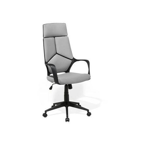 Beliani Krzesło biurowe czarno-szare regulowana wysokość delight