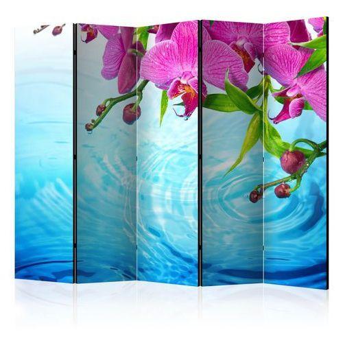 Artgeist Parawan 5-częściowy - storczyki nad wodą ii [room dividers]