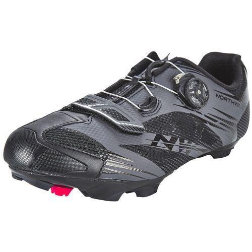Northwave scorpius 2 plus buty mężczyźni czarny 41 2018 buty szosowe zatrzaskowe (8030819846584)