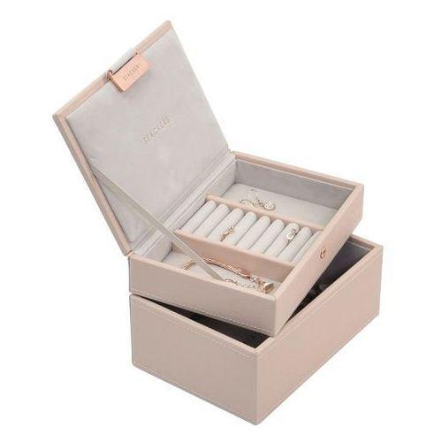 Stackers Pudełko na biżuterię podwójne mini jasnoróżowe