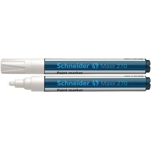Marker olejowy SCHNEIDER Maxx 270, okrągły, 1-3 mm, biały (4004675009425)