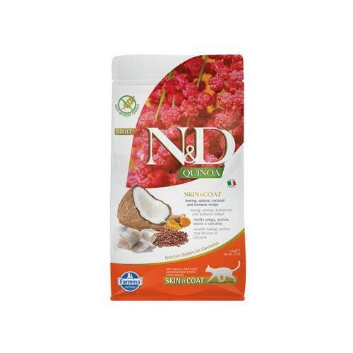 FARMINA N&D Cat Quinoa Adult skin & coat herring, coconut 1,5 kg - DARMOWA DOSTAWA OD 95 ZŁ!
