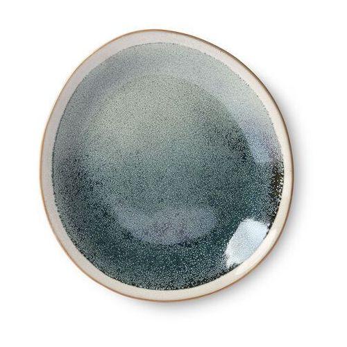 Hk living Hkliving talerz ceramiczny 70's: mist (zestaw 2 szt.) ace6871