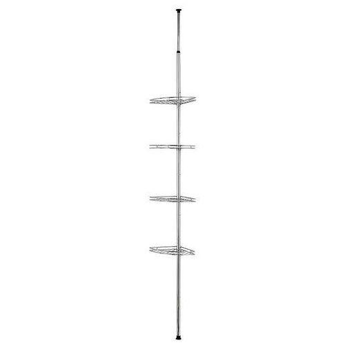 Narożna, teleskopowa półka łazienkowa pod prysznic - aż 4 poziomy, WENKO (4008838748145)