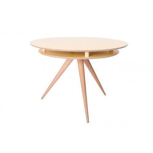Stół drewniany okrągły triad - kolor żółty marki Ragaba