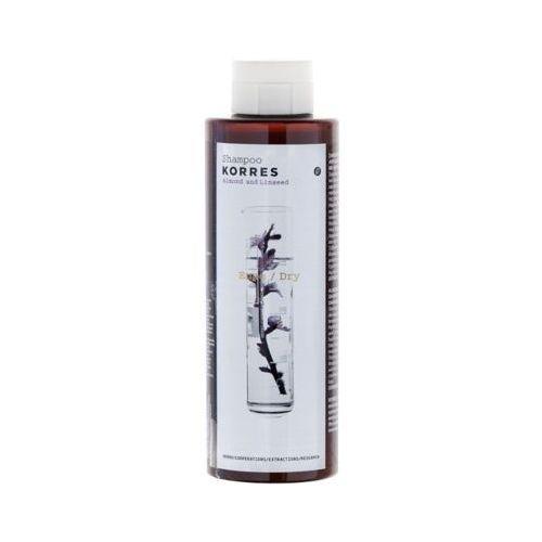 250ml almond and linseed shampoo szampon migdały i olej lniany do włosów suchych marki Korres