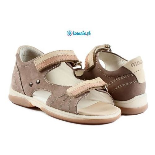 Sandały profilaktyczne Memo Jaspis 1BE beżowo-pistacjowy