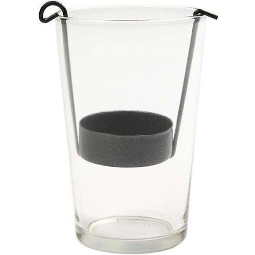 Creativ Szklany świecznik na tealight 10,5x5 cm