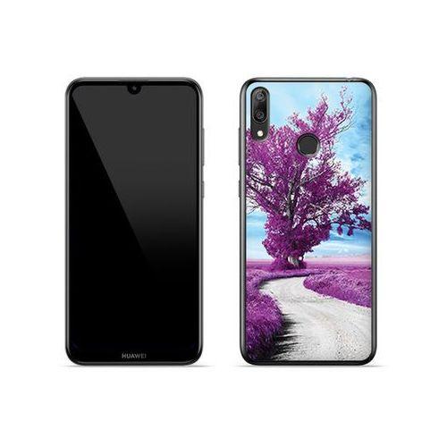 Huawei y7 prime (2019) - etui na telefon foto case - purpurowe drzewo marki Etuo foto case