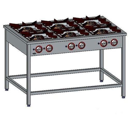 Kuchnia gazowa 6-palnikowa EGAZ TG 6732.II, TG 6732.II