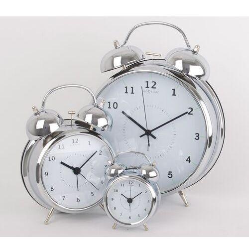 Budzik Wake Up Nextime 9 cm, srebrny (5111 ZI), kolor szary