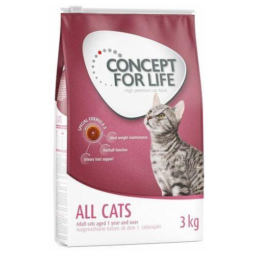 all cats - 400 g| darmowa dostawa od 89 zł + promocje od zooplus!| -5% rabat dla nowych klientów marki Concept for life