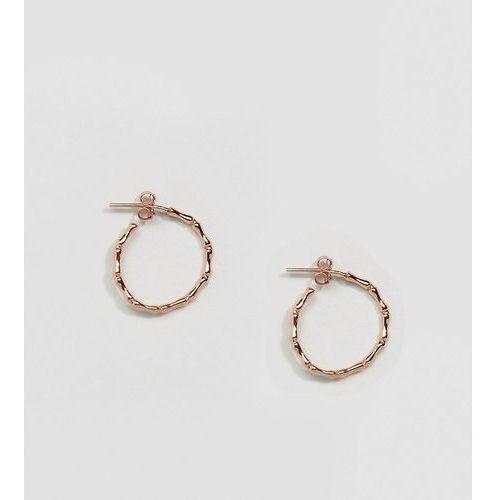 Kingsley Ryan Rose Gold Plated Bamboo Hoop Earrings - Gold
