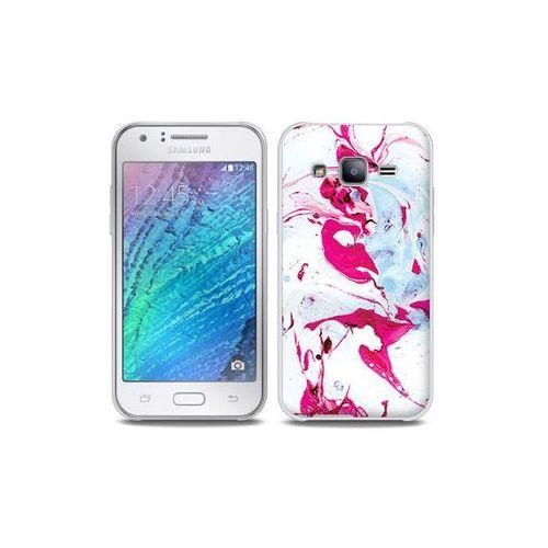 Samsung Galaxy J5 - etui na telefon Full Body Slim Fantastic - różowy marmur, ETSM210FBSFFC030000