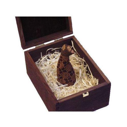 Wpaniały prezent rzeźba kot delkatności brązowy marki Wyspa java