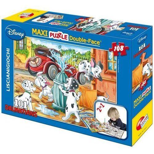 Puzzle dwustronne maxi 101 dalmatyńczyków 108 marki Lisciani