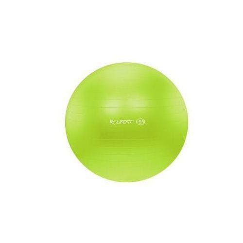 Piłka gimnastyczna LIFEFIT ANTI-BURST 55 cm Zielony