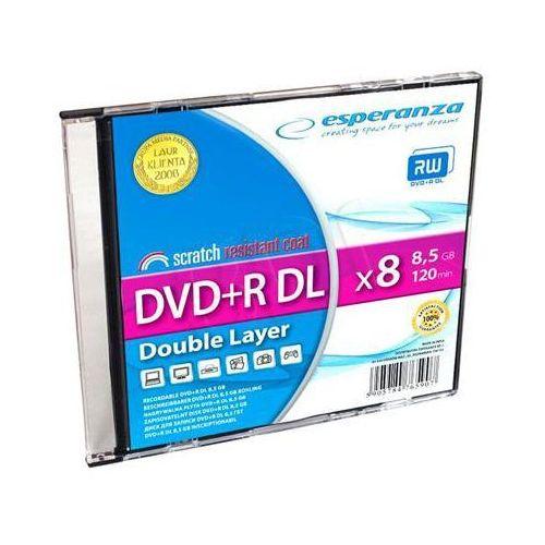 Płyty Esperanza DVD+R DL 8.5GB X8 - SLIM - 1szt. (5905784765907)