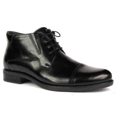 Trzewiki męskie wizytowe Conhpol 4078, kolor czarny