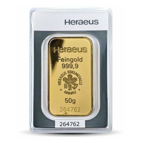 50 g Sztabka złota - 15dni