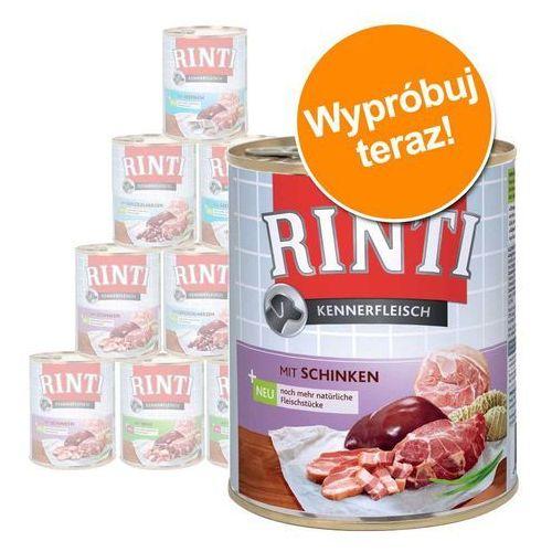 RINTI Pur Kennerfleisch - kacze serca 24x800g, 394-91070