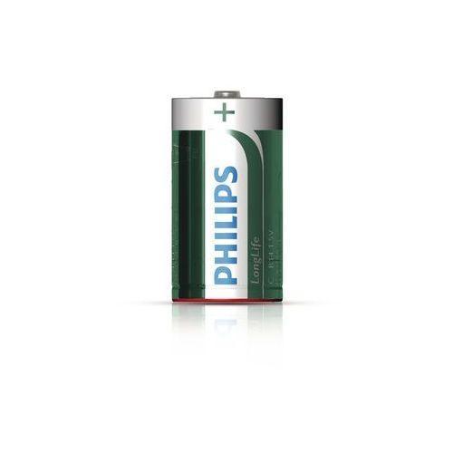 2 x bateria cynkowo-węglowa  longlife r14 c (taca) od producenta Philips